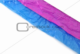 crumpled paper border