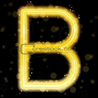 Alphabet Golden Letters with Glitter and Sparkles