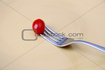 Single Tomato on fork