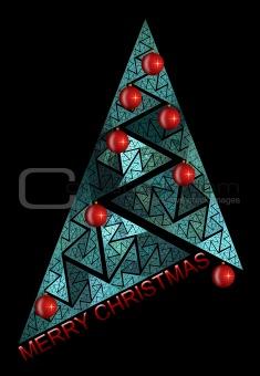 abstract chritmas tree on black