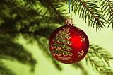 New Year&#39;s and Christmas ornaments