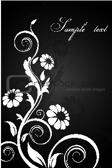classical floral background