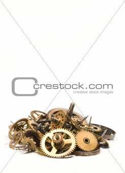 small parts of broken clock