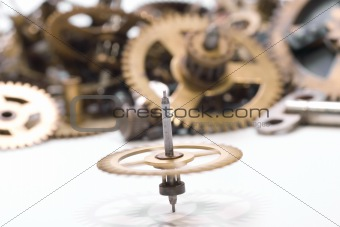 small parts of broken clock