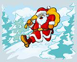 Santa in a hurry