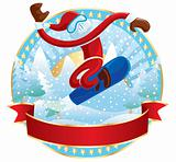 Snowboarder Santa