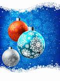 Elegant Blue Christmas Card. EPS 8