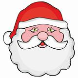 illustration of Santa head