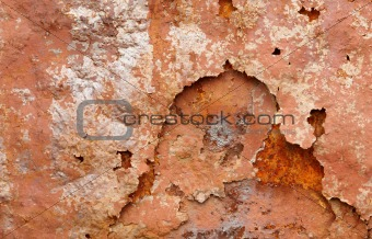 Corrosion on surface of iron