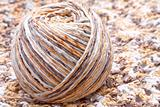 striped beige tangle of yarn