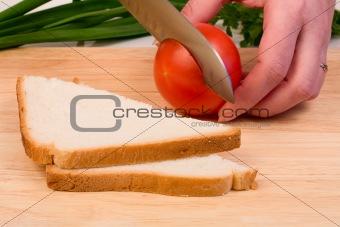 Bread and tomato