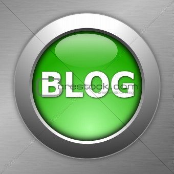 green blog button