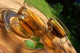 cup tea in the garden