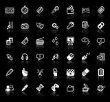 Iinternet media application icon set