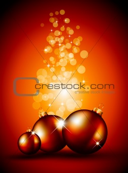 Christmas Backgrounds with Stunning Baubles and Glitter elements