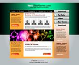High Tech Website Template with Attrative colours