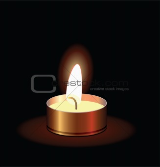 small burning candle