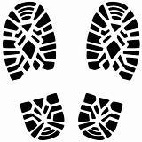 man's foot prints