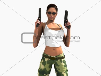 female soldier