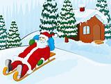 Santa on a sledge