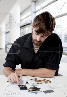 Young man and finances