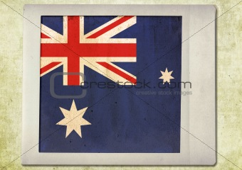flag of vintage instant photo