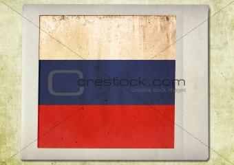 flag of vintage instant photo