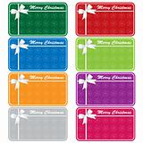 Xmas gift tags assorted colors