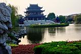 Hall Four Auspicious Merits Pan Men Scenic Area Suzhou China