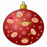 Christmas-tree decoration with faces