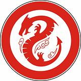Chinese dragon in a circle