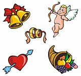 St.Valentine&#39;s icons