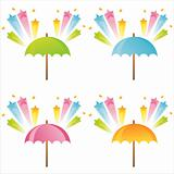 umbrellas with star splashes