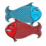 Two fishes.