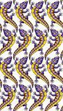 Lizards seamless background.