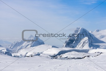 Antarctic mountain range