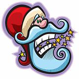 Santa with stars