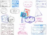 Passport stamps and visa&#39;s