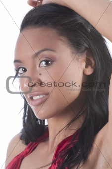 Beautiful African-American woman