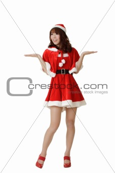 Attractive Christmas girl