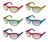 A collection of colorful sunglasses