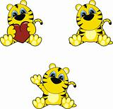 tiger baby cartoon set