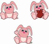 bunny baby cartoon set