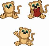 monkey baby cartoon set