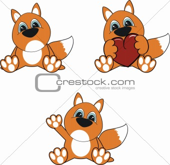 fox baby cartoon set