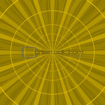Background abstract yellow radial