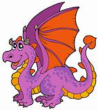 Cartoon dragon with big wings