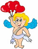 Cupid with balloons