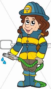 Firefighting girl