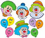 Funny clowns collection